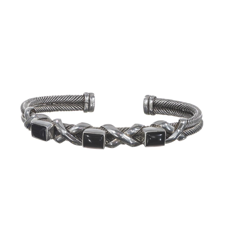 Black Onyx Cuff Bracelet