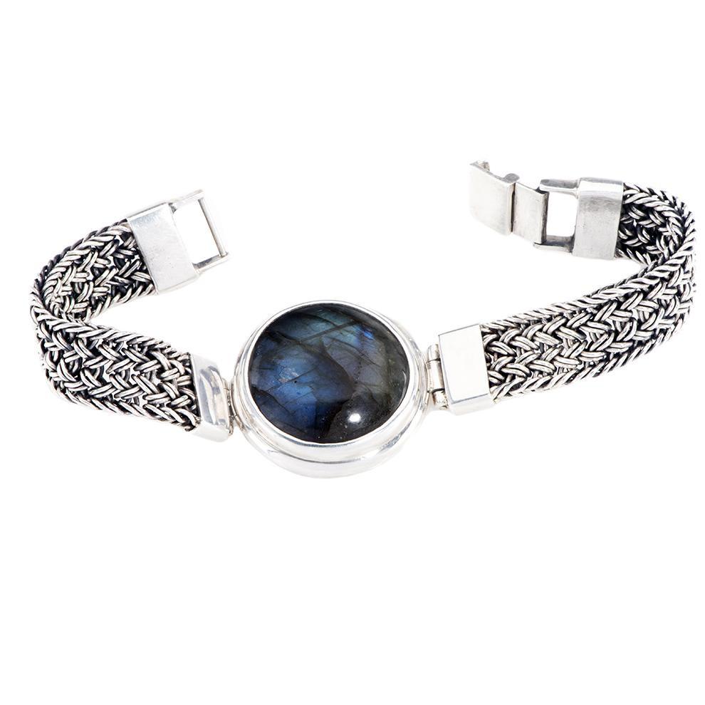 Labradorite Round Dome Bracelet