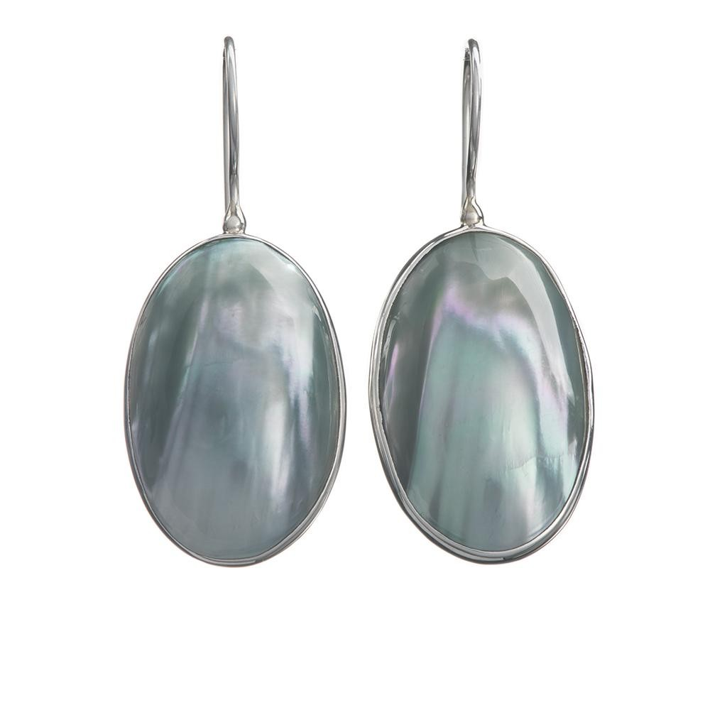 Oval Cukli Shell Earrings