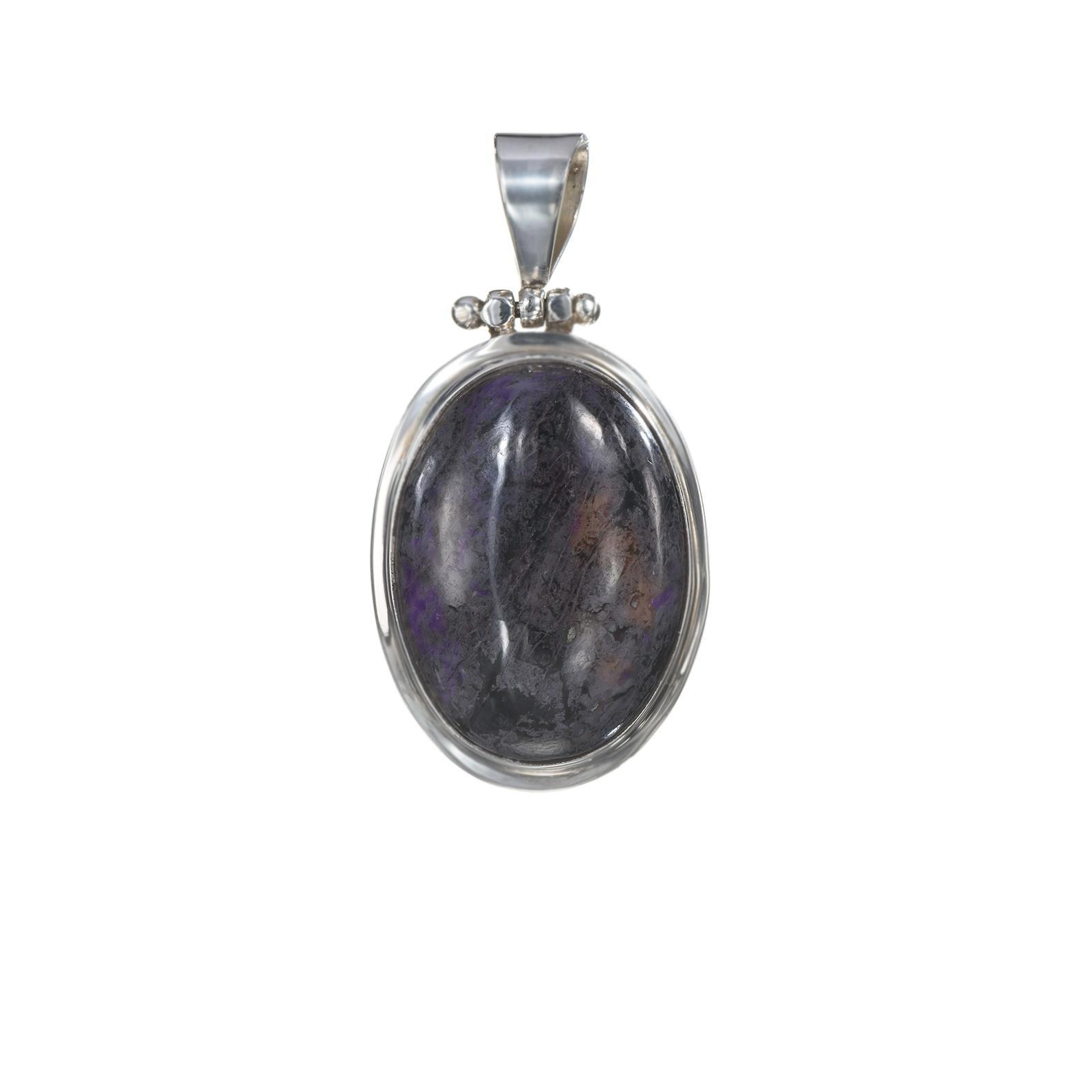 Vintage Lavender Agate Pendant