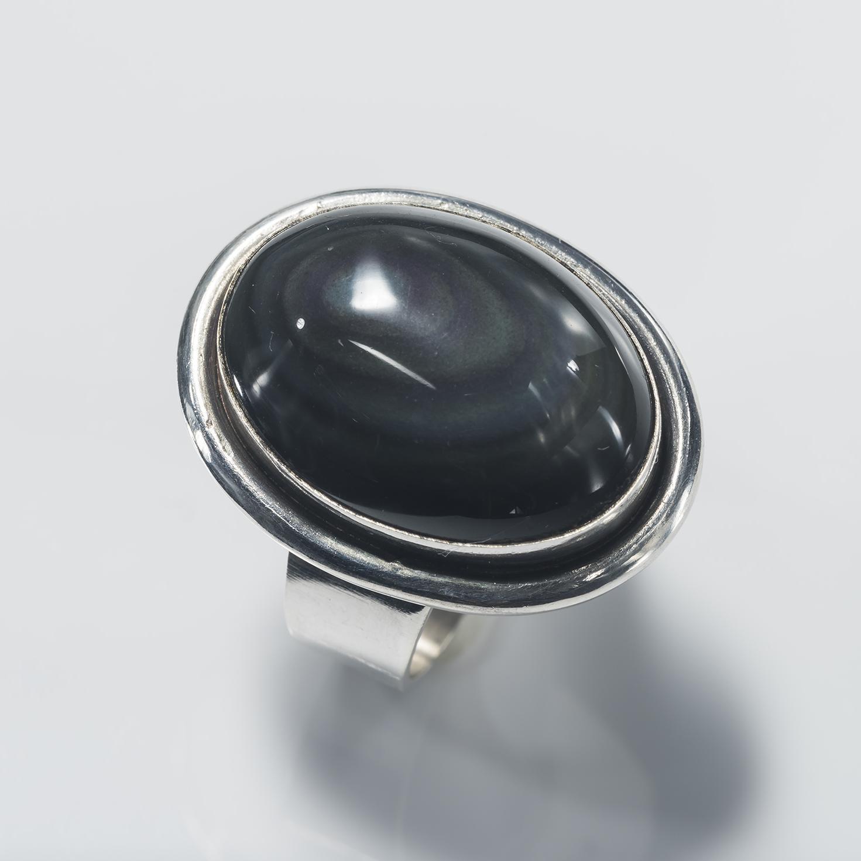 Black Onyx Oval Ring