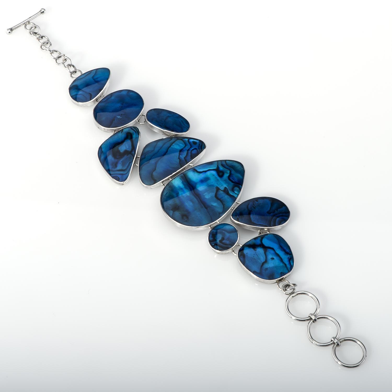 Blue Paua Multi-Piece Bracelet