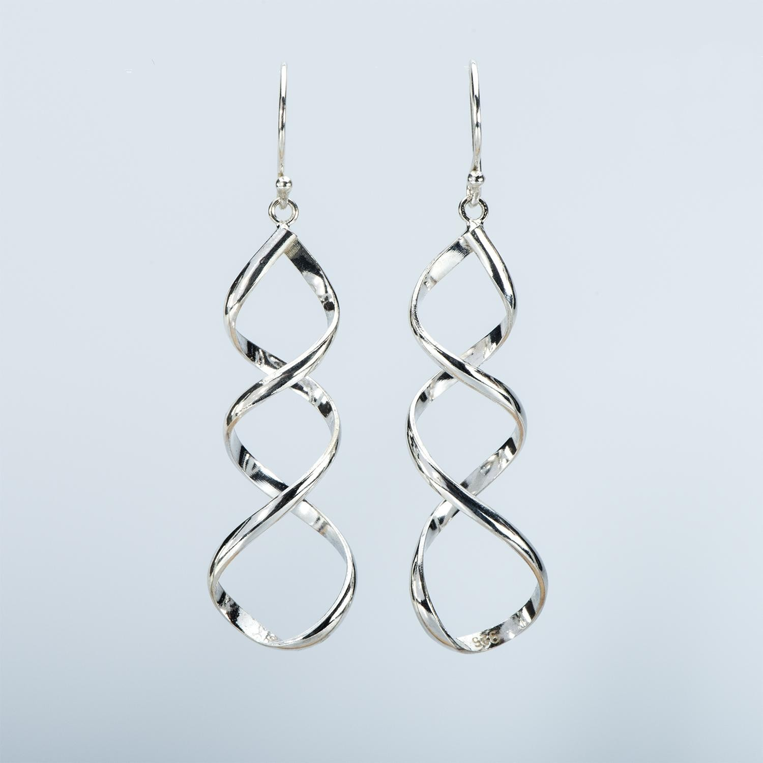 Single Vortex Plain Silver Earring