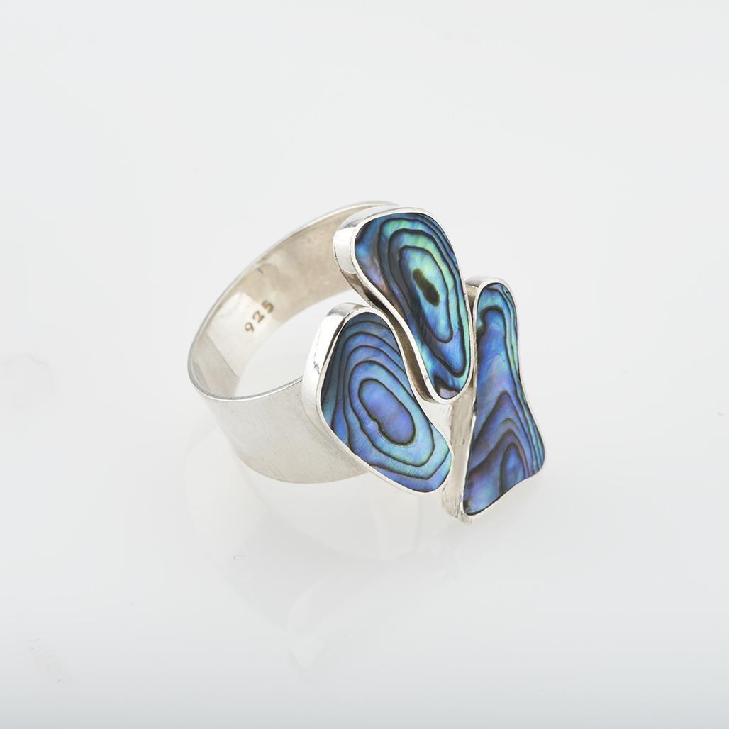 Natural Paua Triology Foot Ring