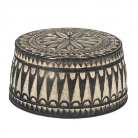 Large Round Wooden Jewelry Box