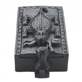 Crocodile Design Rectangle Jewelry Box
