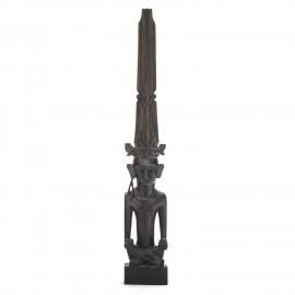 Adu Siraha Tinggi Duduk Makan Statue