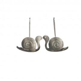 Silver Dangling Snail Earings