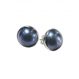 Round Blue Mabe Pearl
