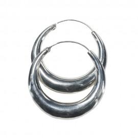 Silver Hoop Earring