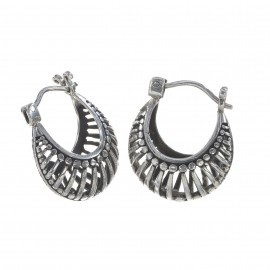 Ornamental Silver Earrings