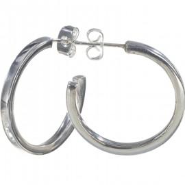 Plain Hoop Silver Earring