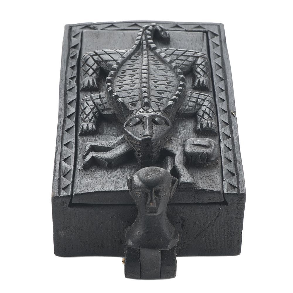 Crocodile Design Rectangle Jewelry Box