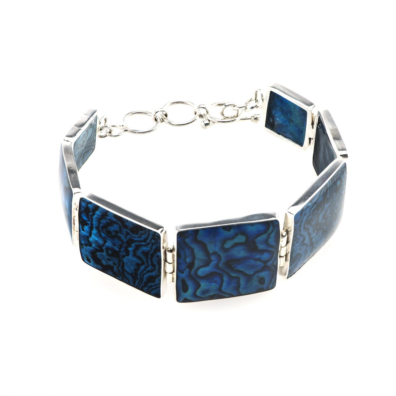 Multi-piece Blue Paua Bracelet